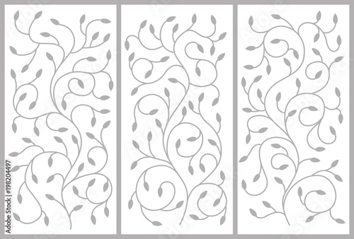 Flower ornament for a cabinet, partitions, doors, furniture Canvas Print
