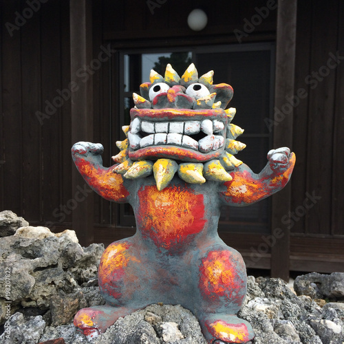 Leinwand Poster Guardian lion - Okinawa - Japan