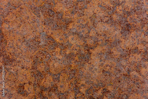 Poster Metal Wonderful brown background of rusty metal plate with corrosion