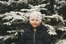 Portrait Of Cute Girl Wearing ...
