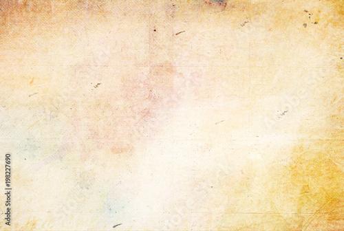 Fototapeta  Retro old paper texture natural colors yellowed blank paper
