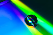 Water Drop On Compact Disc