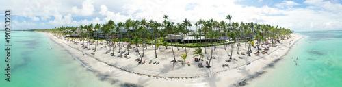Luftbildpanorama vom Bavaro Beach in Punta Cana, Dominikanische Republik