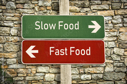 Fotografie, Obraz  Schild 316 - Slow Food