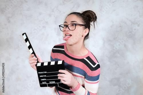 Fotografija  Comedy movie funny grimace woman face expression