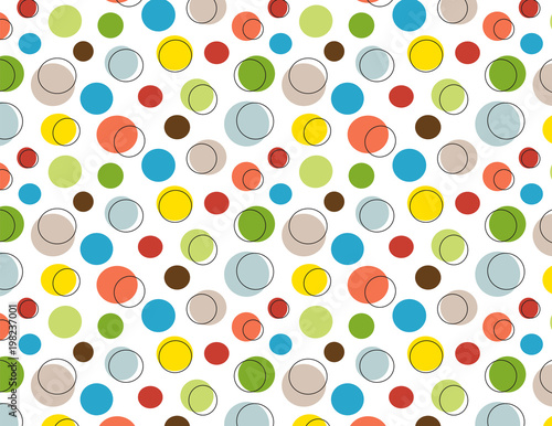 fototapeta na drzwi i meble Cute polka dot seamless pattern. EPS file has global colors for easy color changes.