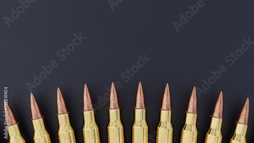 556mm Ammunition Background Canvas Print