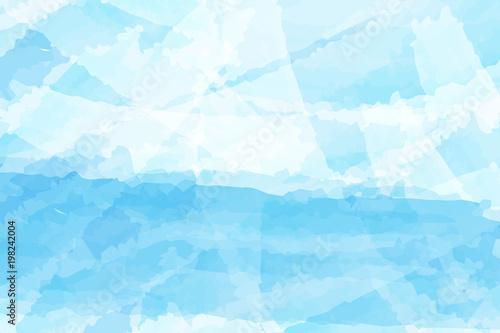 Fotografia  Blue watercolor abstract background vector design for Songkran festival in Thailand