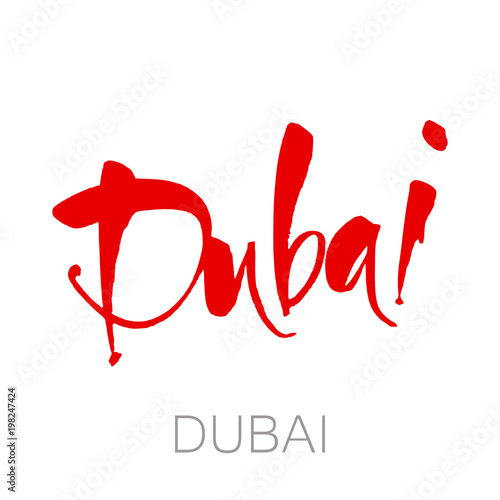 Photo  dubai lettering template