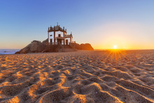 Sandy Beach In Miramar, Porto,...