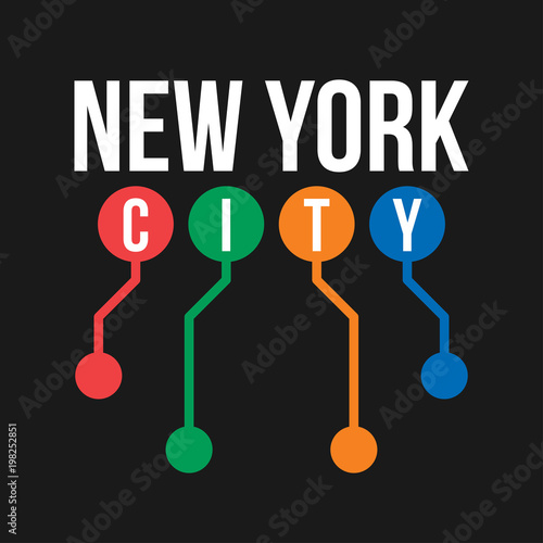 How To Purchase A Good New York City Subway Map.T Shirt Design In The Concept Of New York City Subway Cool