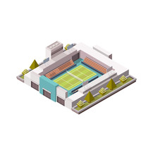 Tennis Court, Grass Cover Isom...