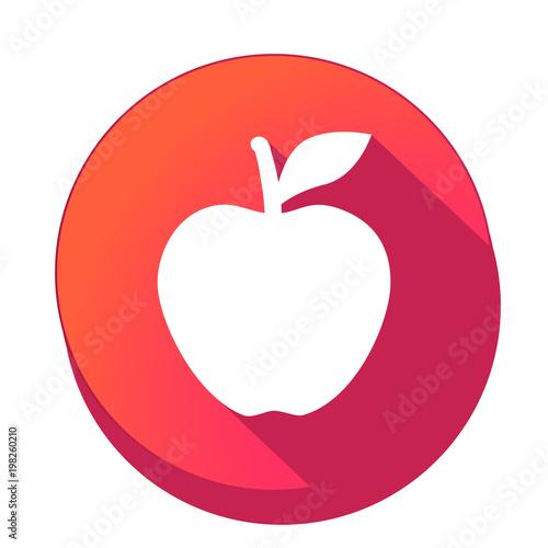 ikona z długim cieniem na tle okręgu