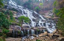 Mae Ya Waterfall In Summer At ...