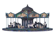 Vintage Carousel Isolated On W...