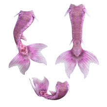 Set Of Pink Mermaid Tails Isol...