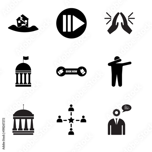 Stampe  Set Of 9 simple editable icons such as advisor, customer experience, municipal,