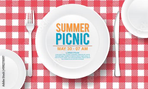 Fotografie, Obraz vector summer picnic design