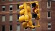 Yellow Hanging Traffic Signal
