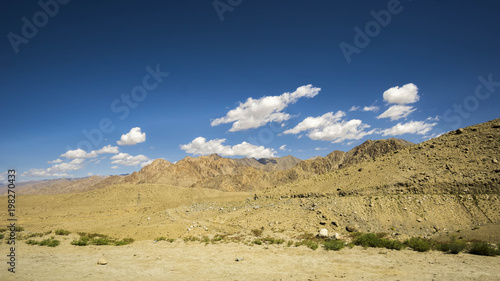Staande foto Nachtblauw Landscape scenery view at Leh Ladakh India.