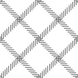 Black and white cage seamless pattern. vector - 198275847