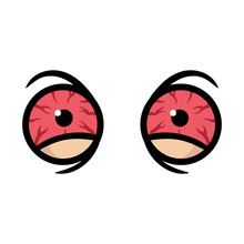 Cartoon Bloodshot Eyes