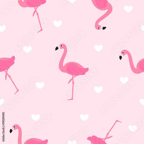 ilustracja-wektorowa-bezszwowe-wzor-flamingo-sliczny-flaming-z-bialymi-sercami