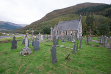 A Lonely Graveyard In The Scottish Highlands