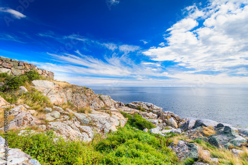 Spoed Foto op Canvas Kust stony coast at christianso near bornholm