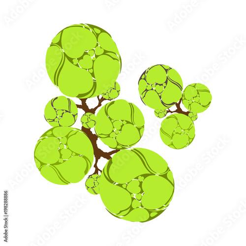 In de dag Lime groen Trees top view for landscape vector illustration.