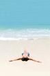 Sunbathing, Mahe Island, Seychelles