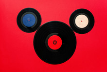 Top View Of Old Vinyl Records ...