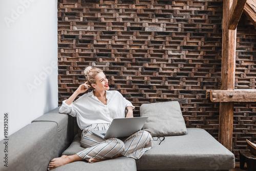 Fotografie, Obraz  Portrait of Woman at Home