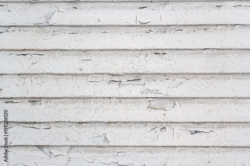 Türaufkleber Holz White wood planks texture background with shabby paint