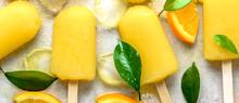 Orange Popsicle With Juice Ice...
