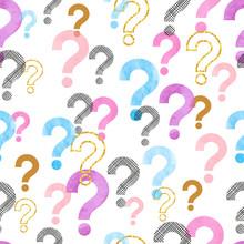 Seamless Question Mark Pattern...