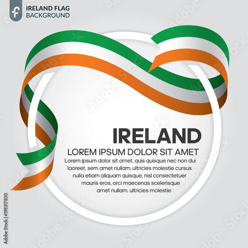 Ireland flag background Poster