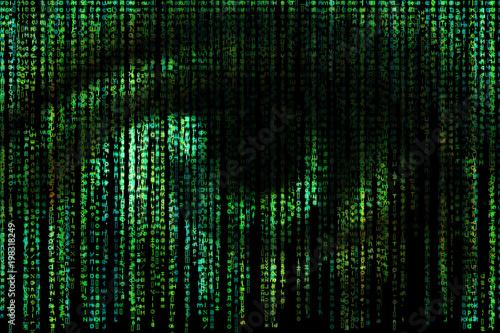 Digital eye Wallpaper Mural