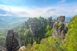 incredible scenery wizz cliff near Rathen, Germany, Europe (Sachsische Schweiz)