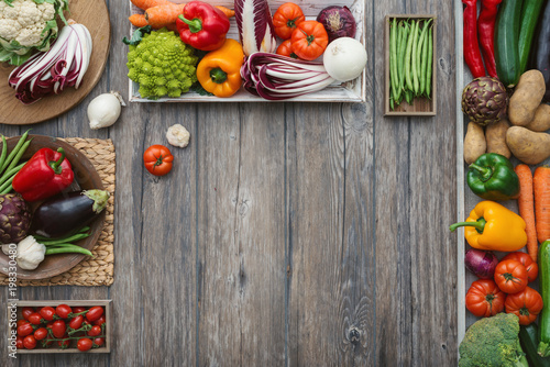 Fotografie, Obraz  Freshly harvested vegetables in the kitchen