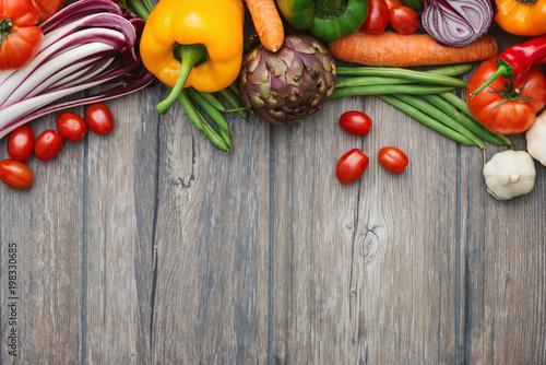 Freshly harvested vegetables Poster