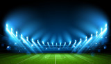 Fototapeta Child room - Football Arena. Stadium. Vector