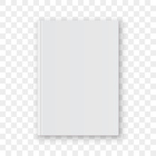 Book Cover Blank White Vertica...