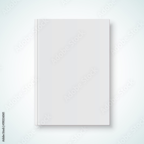 Book cover blank white mockup model. Vector vertical book cover with ...
