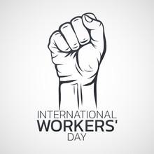 International Workers Day  Logo Icon Design, Vector Illustration