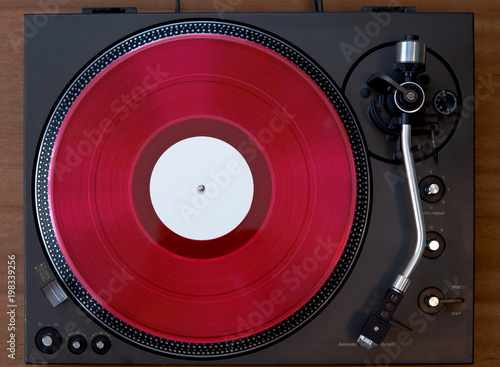 Foto op Plexiglas Retro Vintage Vinyl Record Player Turntable