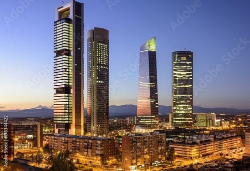 Obraz na płótnie madrid skyline