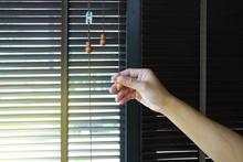 Wooden Blinds Decoration In Living Room