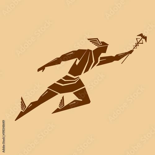 Fotografía Ancient Greek god Hermes. Vector drawing