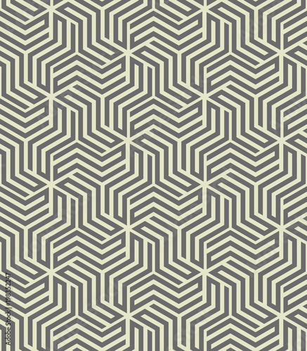 Fototapety, obrazy: Abstract geometric pattern with stripes, lines. A seamless vector background. Grey ornament